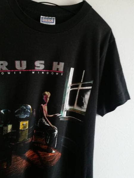 """80s RUSH """"POWER WINDOWS"""" ラッシュ パワーウィンドウズ ロック バンド ツアー Tシャツ ビンテージ プログレ"""
