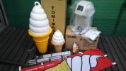 ソフトクリーム アイスクリームマシン ジェラート パフェサンデー ワンショット レトロ ソフトクリーム看板 レトロ 移動販売 屋台 模擬店