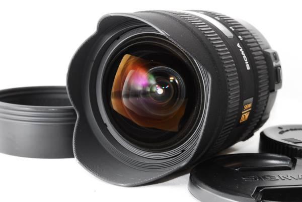【美品】 シグマ SIGMA 8-16mm F4.5-5.6 HSM DC CANON フード付き
