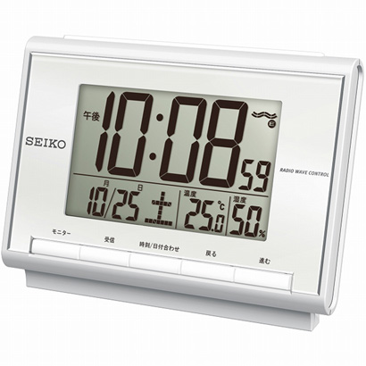 セイコー 温湿度付き電波目覚まし SQ698S