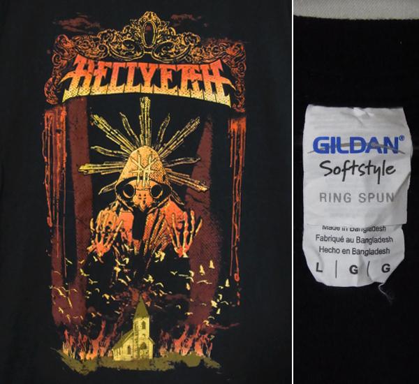 美品 HELLYEAH ヘルイェー PANTERA パンテラ メタル ロックTシャツ バンドTシャツ 黒 ブラック Lサイズ BABYMETAL ビンテージ