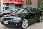 BMW E65後期740I ブラック OP20AW サンルーフ 黒革 パワーシート+エアシート+シートヒーター 純正HDDナビ+ビルトインミラーETC
