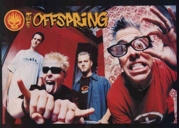 オフスプリング☆パンクスプリング☆The Offspring☆海外 レア☆シルク調☆大型☆90x60cm☆ファブリック ポスター☆3