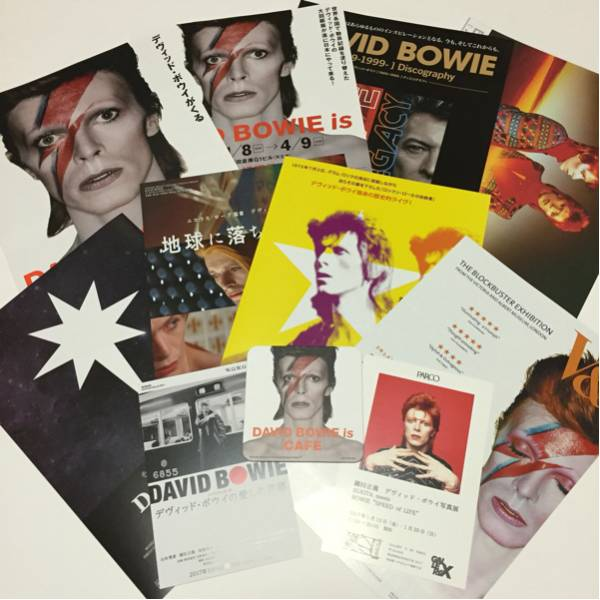 DAVID BOWIE is ★ 非売品 CAFE コースター + チラシ 10枚セット ★ デヴィッド・ボウイ 大回顧展 鋤田正義 BLOWS UP Iggy Pop LEGACY