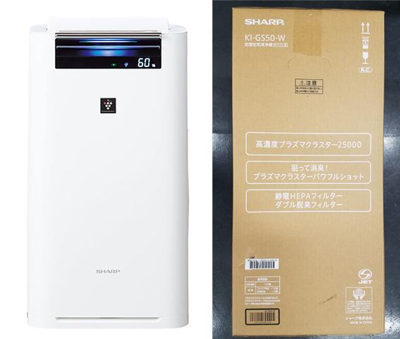 新品 訳有 シャープ 加湿空気清浄機 KI-GS50-W 高濃度プラズマクラスター25000 SHARP