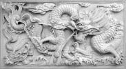 3D ドラゴン ホワイト PVC バックスクリーン 122×61cm