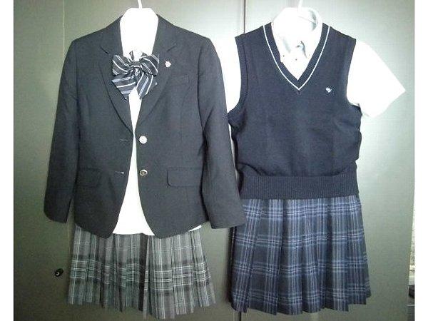 [コスプレ] 横浜山手高校 女子 制服 12点セット (クリーニング済)