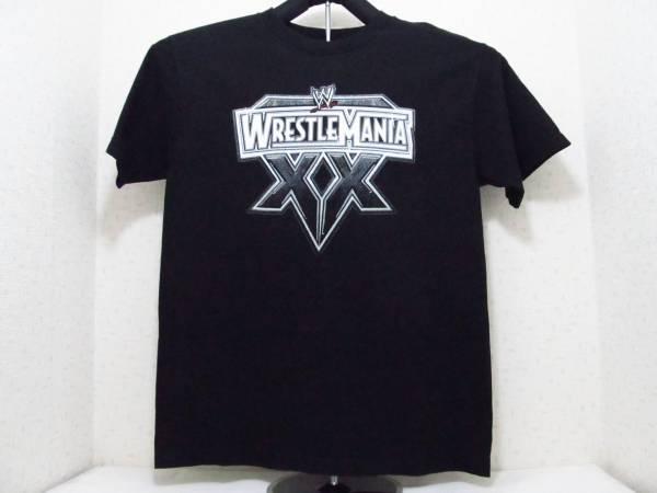 WWE ( World Wrestling Entertainment ) レッスルマニア ( WrestleMania ) 2004,3,14 MADISON SQUARE GARDEN Tシャツ Mサイズ ブラック 黒 グッズの画像