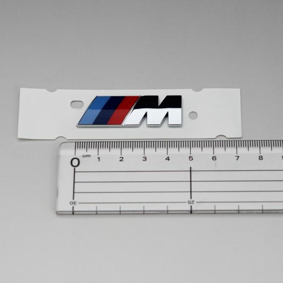 BMW純正G30 5シリーズMフロントフェンダーエンブレムM5/E90E91F30F31E46F10E60E61F20E39F31F11Z3Z4M3M4M5M6X1X3X4X5X6_画像2