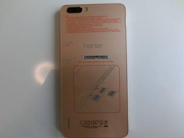 美品 おまけ付き HUAWEI honor6 plus ゴールド 楽天モバイル_画像2