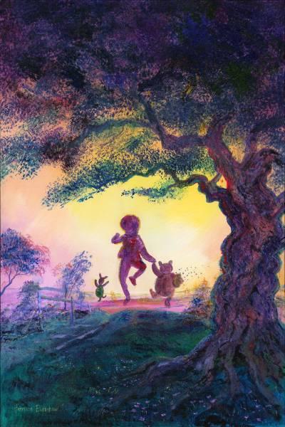 Disney Fine Art ディズニーファインアート クマのプーさん 限定 レア Harrison Ellenshaw ディズニーグッズの画像