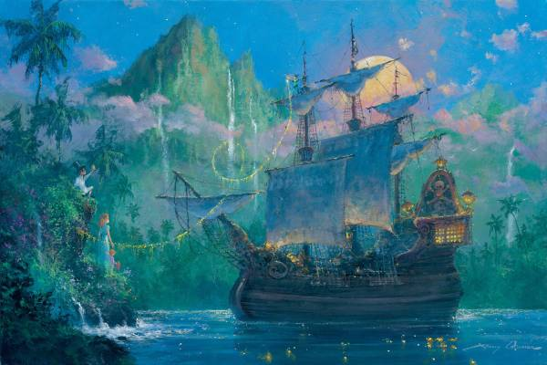 Disney Fine Art ディズニーファインアート ピーターパン レア James Coleman ディズニーグッズの画像