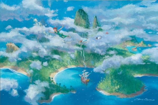 Disney Fine Art ディズニーファインアート ピーターパン 限定 レア James Coleman ディズニーグッズの画像