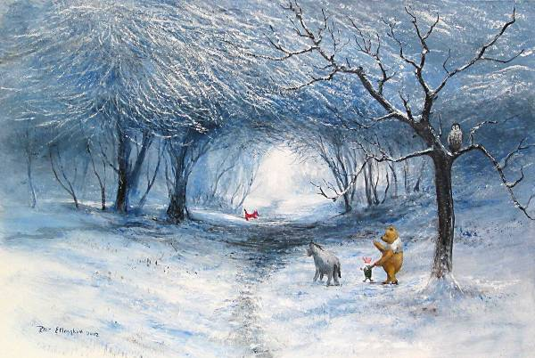 Disney Fine Art ディズニーファインアート クマのプーさん 限定 レア Harrison Ellenshaw