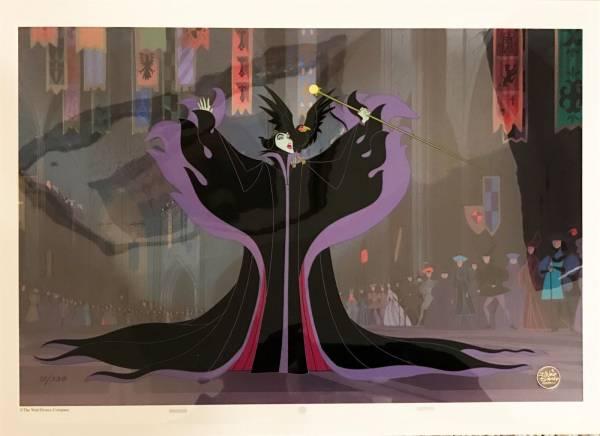 ディズニー 眠れる森の美女 マレフィセント 原画 セル画 限定 レア Disney 入手困難 ディズニーグッズの画像