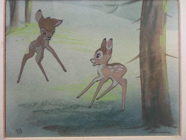 ディズニー バンビ 原画 セル画 限定 レア Disney 入手困難 ディズニーグッズの画像