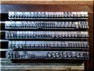 14pt Style Script メタルスタンプ 小文字 アルファベット ヌメ革 刻印 ハンドメイド 革工芸