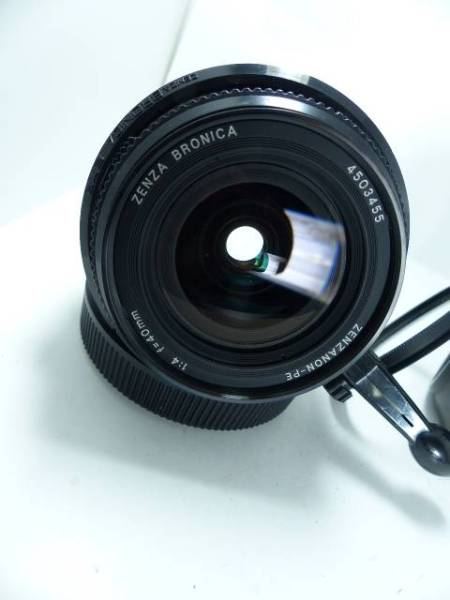超広角 ブロニカETR PE40㎜F4 角型フード クイックレバー付 美品_画像2