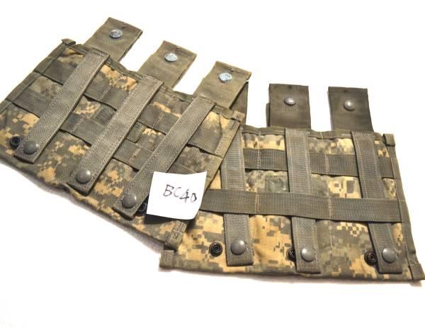 実物 US ARMY 米軍放出品 陸軍 ACU デジタル迷彩 M16 M4 トリプルマガジンポーチ 2個セット B_画像3