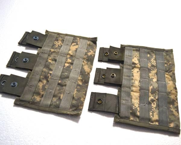 実物 US ARMY 米軍放出品 陸軍 ACU デジタル迷彩 M16 M4 トリプルマガジンポーチ 2個セット B_画像2