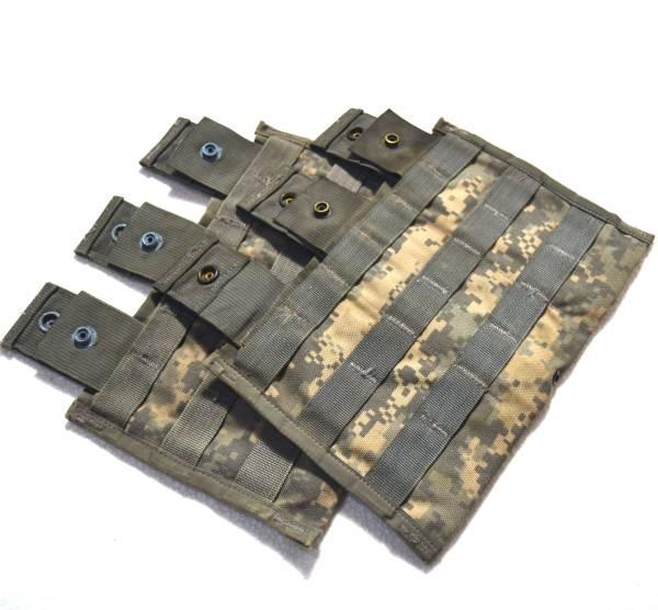 実物 US ARMY 米軍放出品 陸軍 ACU デジタル迷彩 M16 M4 トリプルマガジンポーチ 2個セット B_画像1