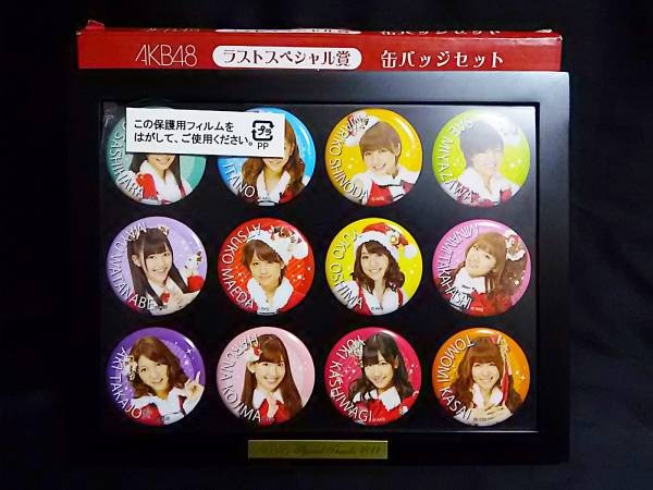 AKB48 ラストスペシャル賞 缶バッジセット ライブ・総選挙グッズの画像