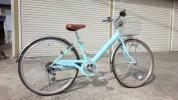 自転車 26インチ LEDオートライト 6段変速