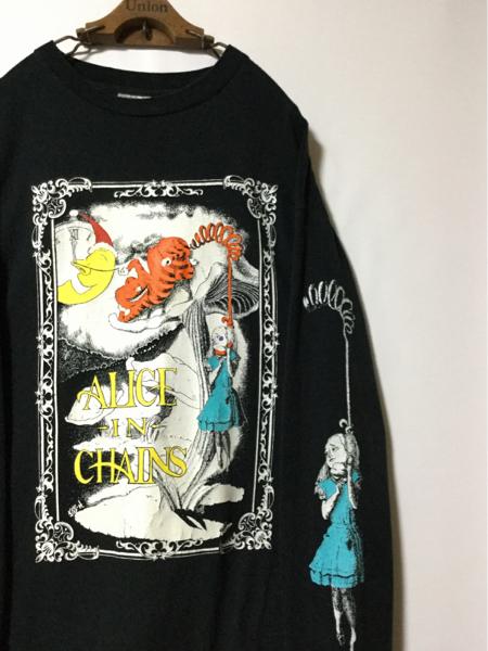 90年代 ALICE IN CHAINS アリス イン チェインズ 両面両袖プリント ヴィンテージ Tシャツ ( XL ) ニルバーナ ソニックユース ダイナソー