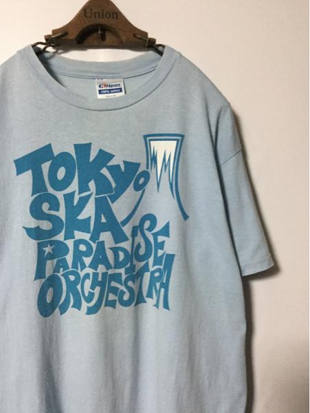 90年代 オリジナル TOKYO SKA PARADISE ORCHESTRA 東京スカパラダイスオーケストラ スカパラ Tシャツ ( Hanes / L ) ブルーハーツ