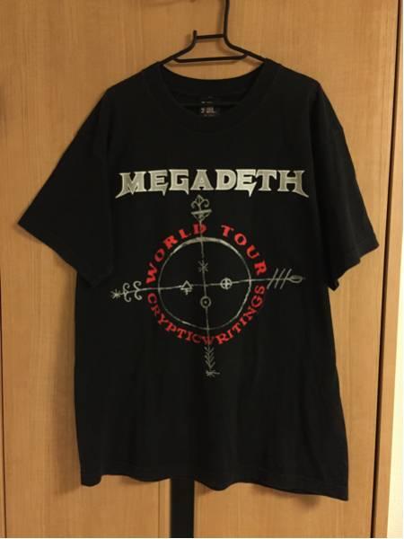 MEGADETH WORLD TOUR CRYPTIC WRITINGS 1998 Tシャツ サイズL メガデス 90s ビンテージ