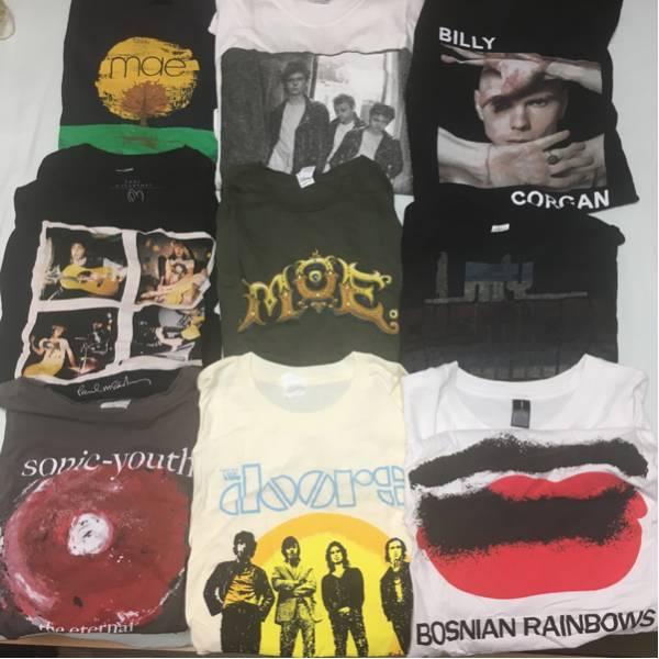 Paul McCARTNEY,mae,THE DOORS,マニックス,スマパン,My CHEMICAL ROMANCE等 バンドTシャツ9枚セット