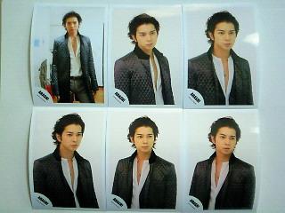嵐 松本潤 ジャニーズショップ公式写真 2009年カウコングッズオフショット 6枚