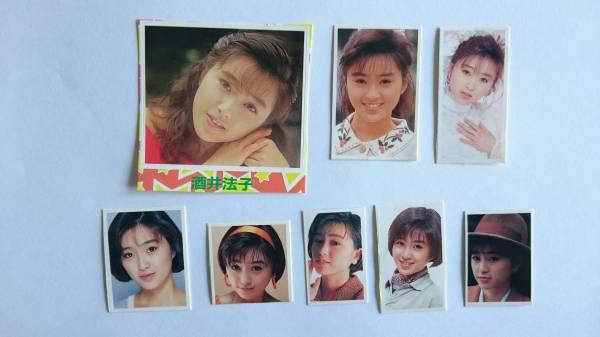 レア ★ 酒井法子 ★ のりピー 若い時 シール 8枚