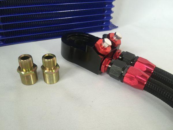 オイルクーラーkit AN10 17段 マツダ RX-7 FD3S FC3S RX7 RX8 ユーノス ロードスター NA/NB/NC/ND コスモ 13B 20B 油温計/油圧計取付可_画像3