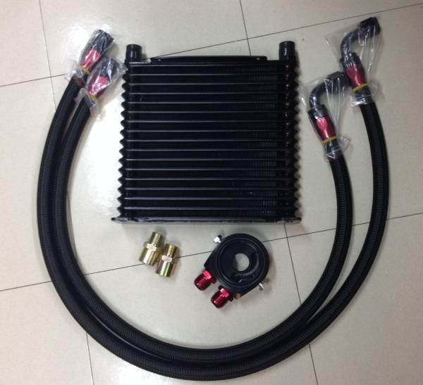 オイルクーラーkit AN10 17段 マツダ RX-7 FD3S FC3S RX7 RX8 ユーノス ロードスター NA/NB/NC/ND コスモ 13B 20B 油温計/油圧計取付可_画像1