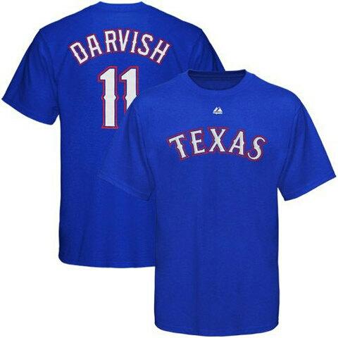 MLB オフィシャルウエア テキサスレンジャーズ ダルビッシュ応援Tシャツ(MAJESTIC製品) Sサイズ  グッズの画像