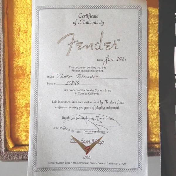 激レア!! フェンダー カスタムショップUSA テレキャスター シンライン 95' Fender CUSTOM SHOP USA TELECASTER THINLINE