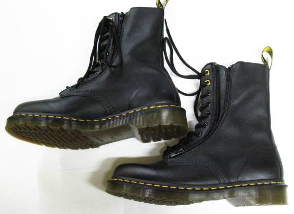 ヨウジ×ドクターマーチン:ダブルネーム レザー ブーツ (ワイズ_画像2