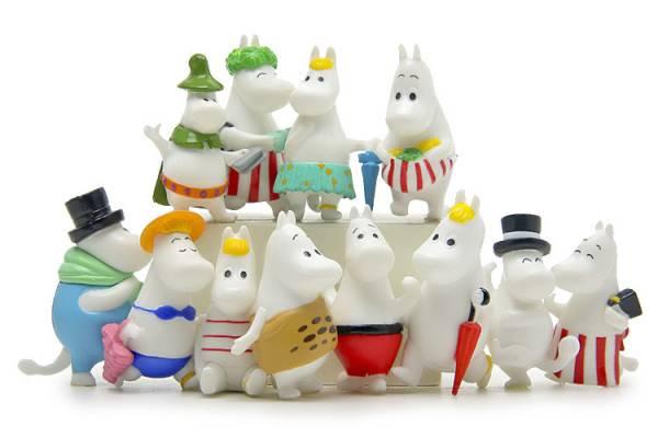 プラスチック製ムーミンキャラクターフィギュア12点で1セット 送料140円 グッズの画像