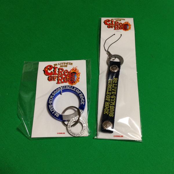 B'z ライブグッズ 2005 CIRCLE of lock カラビナ ストラップ セット 新品未開封