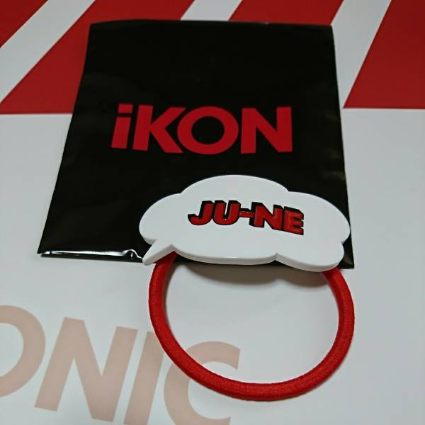 iKON JU-NE グッズ☆アクリル ヘアゴム☆未使用 ジュネ ライブグッズの画像