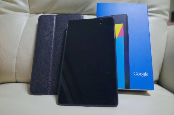 ■美品! Google Nexus7 2013 16G Wi-fi おまけ 手帳型ケース 送料無料■