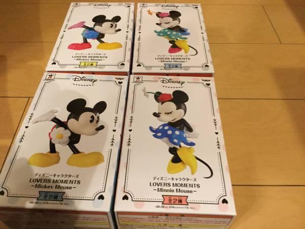ディズニーキャラ即決 ディズニー LOVERS MOMENTS CLASSIC STYLE Mickey Mouse ミッキーマウス Minnie Mouse ミニーマウス 4種 フィギュア ディズニーグッズの画像
