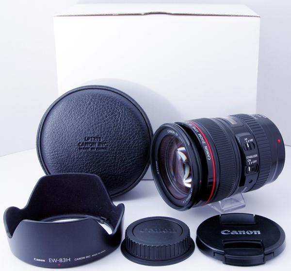 【極上美品】EF24-105mm F4L IS USM レンズフード/ケース 元箱(白箱) 独自保証付 うれしいクチコミ多数 スピード発送 CANON キヤノン