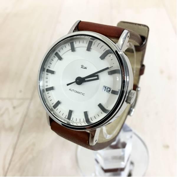 SEIKO ALBA Riki セイコー アルバ リキ 渡辺力 デザイン メンズ 機械式 自動巻き 革ベルト 腕時計 AAAA103 日本製 付属品完備 定価21,000