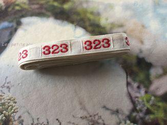 即決*アンティーク*ナンバーテープ/323_画像1