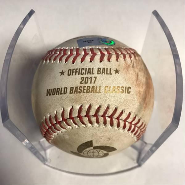 WBC使用ボール!、大変希少な今回2017年大会の使用球!、MLB管理サイトの履歴保証付き!(089049)