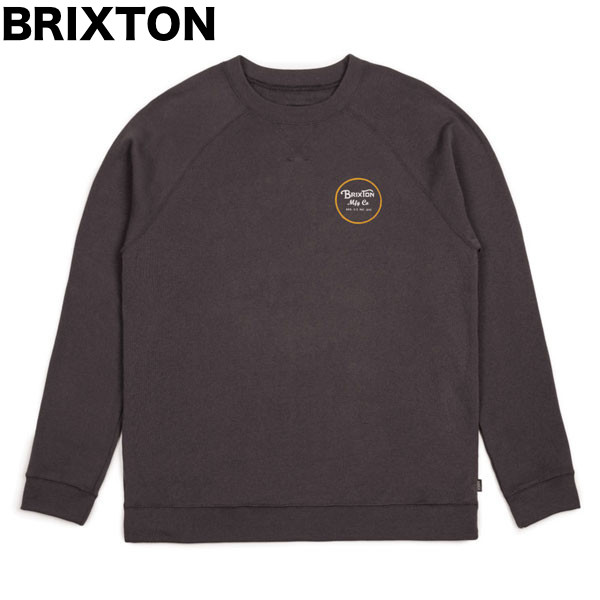 Brixton Wheeler Crew Fleece Sweatshirt Washed Black M