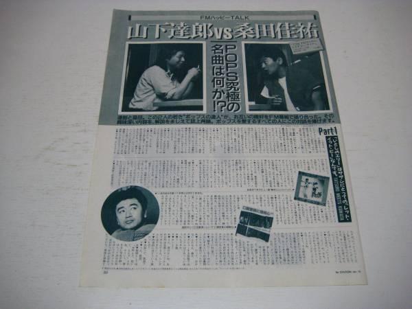 切り抜き 山下達郎 桑田佳祐 対談 1980年代