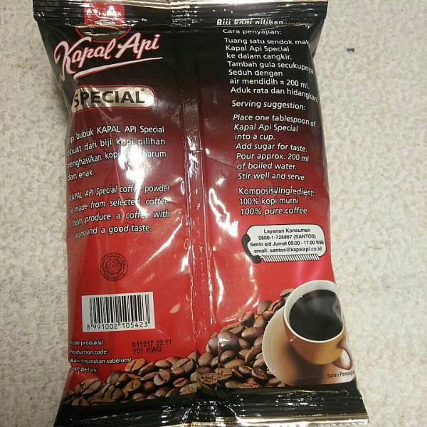 インドネシア コーヒー KOPI BUBUK Kapal Api SPECIAL 165g SINGA COFFEE _画像2